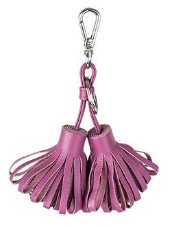 Double tassle leather keyring