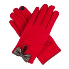 Dents Women`s touchscreen wool gloves