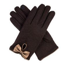 Dents Womens touchscreen wool gloves