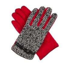 Dents Womens herringbone tweed gloves