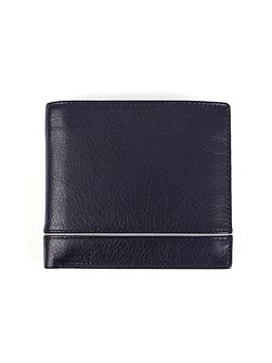 Mens RFID wallet removable pass holder