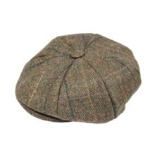 Dents Mens eight piece cap abraham moon tweed