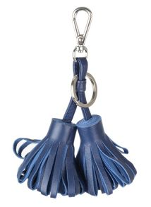 Dents Double tassle leather keyring