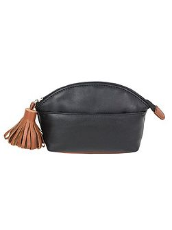 Make up bag with tassle detail