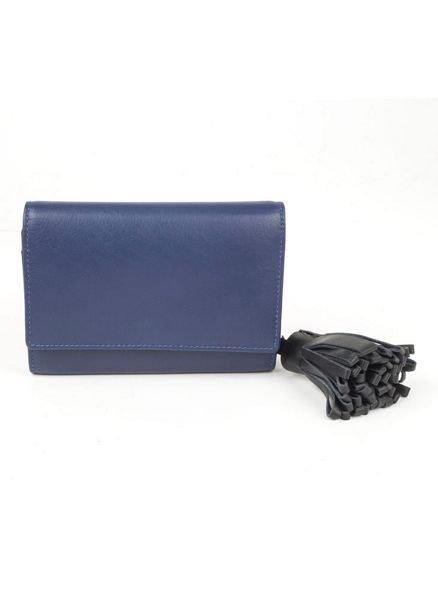 Dents Soft leather purse with contrast tassle