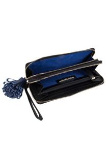 Dents Large soft leather purse with tassle