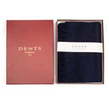 Dents Mens lambswool scarf in gift box