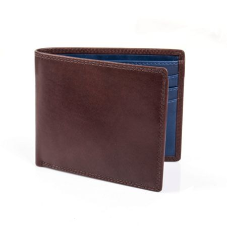 Dents Mens leather wallet with contrast lined