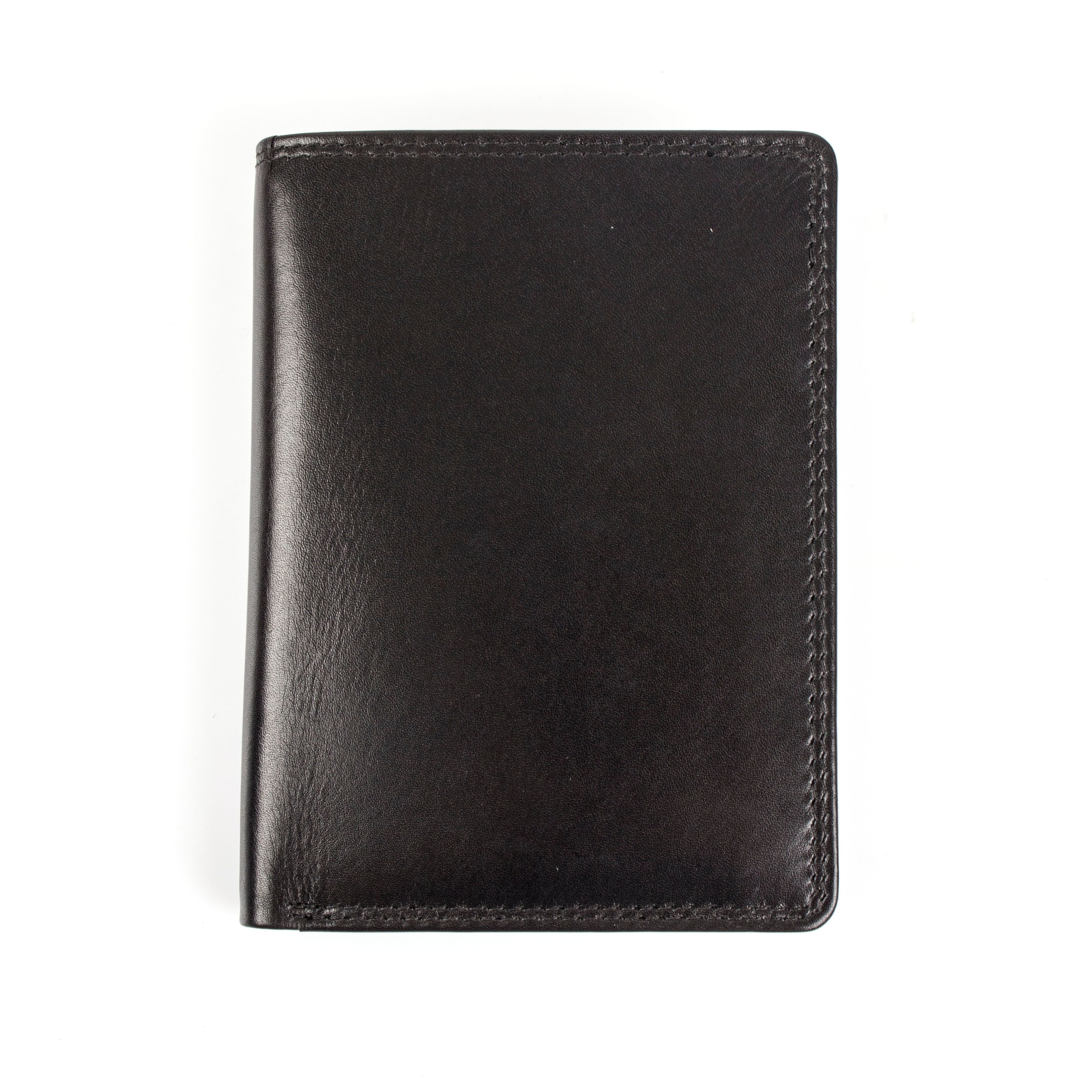 Dents Dents Mens leather wallet with contrast lined, Black