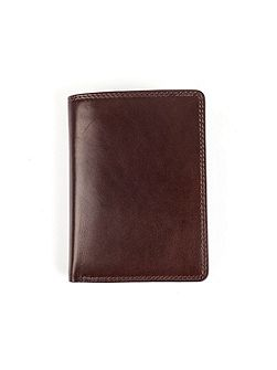 Mens leather wallet with contrast lined