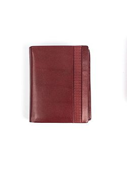 Mens leather wallet with punched detail