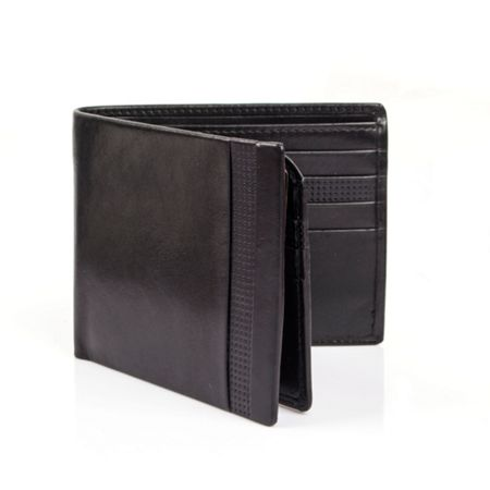 Dents Mens leather wallet with punched detail