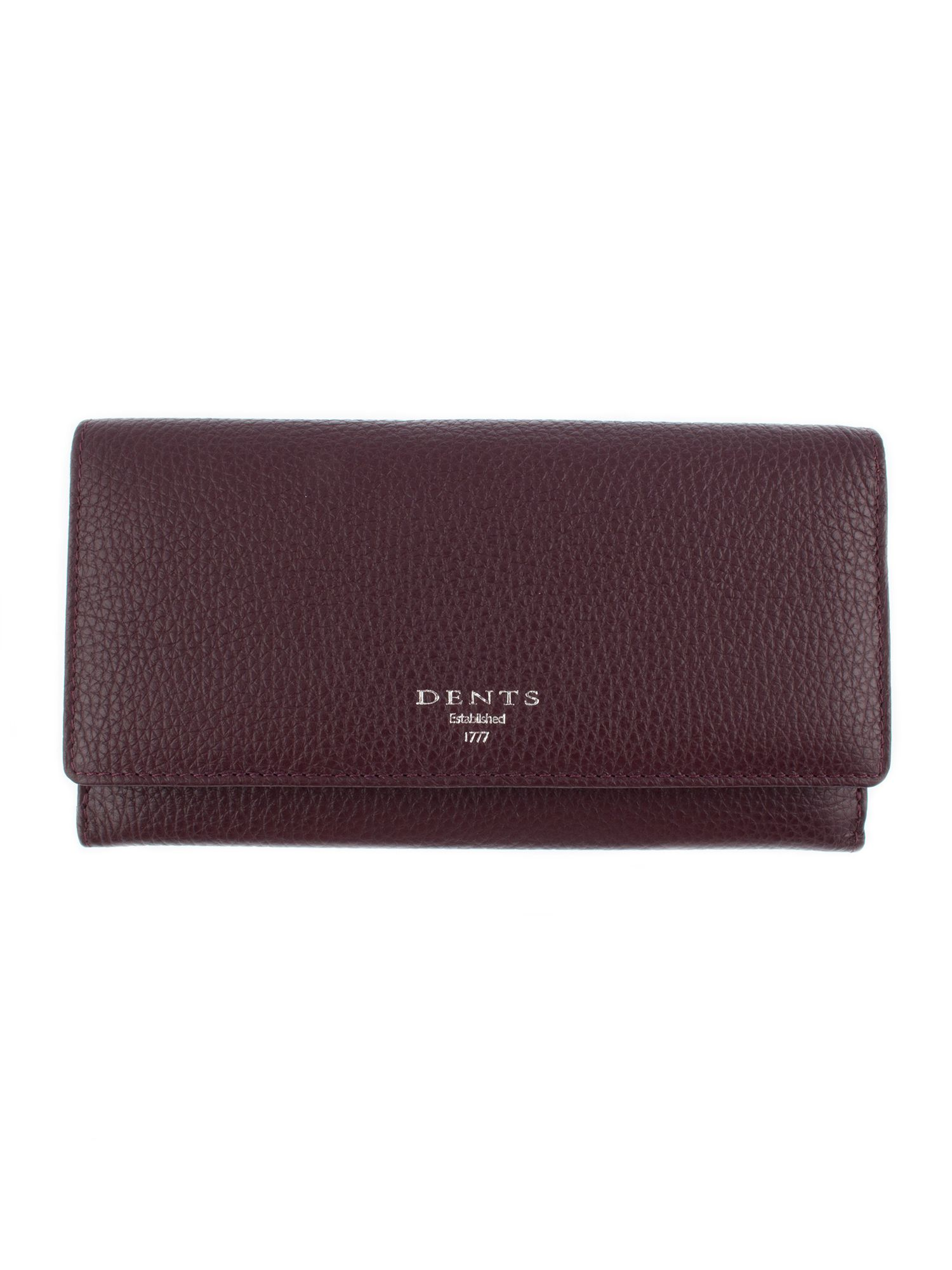 Dents DENTS Leather Purse With RFID Protection, Red