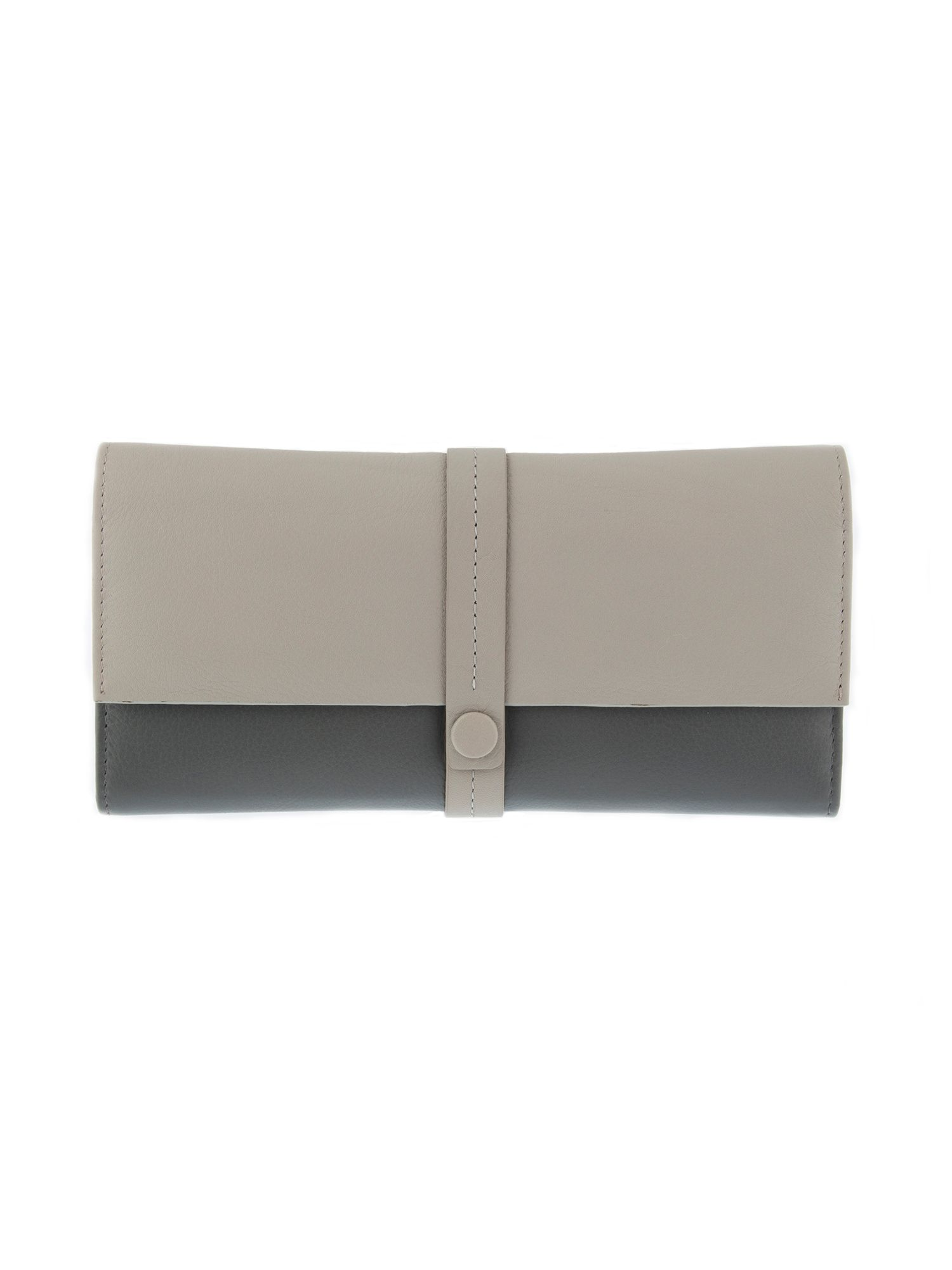 Dents DENTS RFID LEATHER COLOUR BLOCK PURSE, Off White
