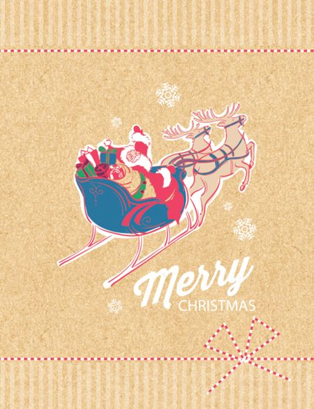 Special Editions Retro Santa Cards, Pack of 10 (1 Design)