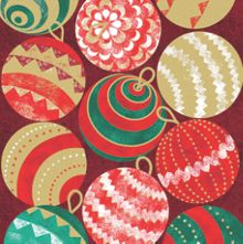 Special Editions Foiled Baubles Cards, Pack of 8 (1 Design)