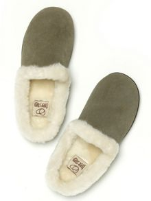 Freestep Lush suede mule slippers
