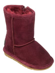 Girls jersey suede boot