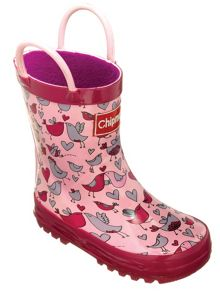 Girls lovebirds pattern wellingtons