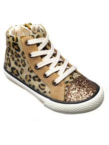 Girls leopard florida ankle boot