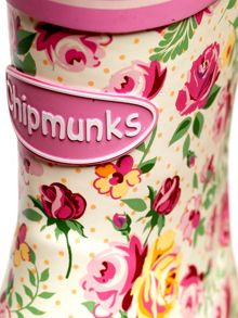 Girls floral wellingtons