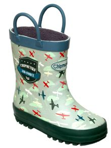 Boys air force print wellingtons