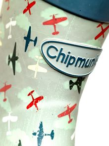 Chipmunks Boys air force print wellingtons