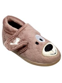 Boys spike the dog slipper