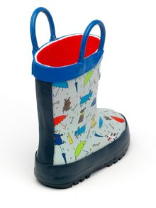 Chipmunks Boys blue raindogs wellingtons