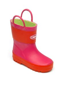 Girls pink and red wellingtons