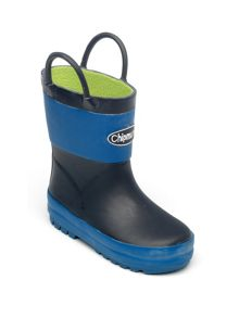 Boys light and dark blue wellingtons