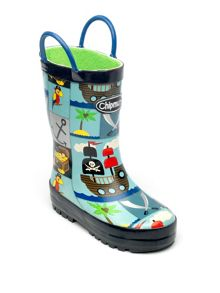 Chipmunks Boys pirate print wellingtons
