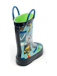Boys pirate print wellingtons
