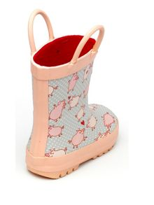 Chipmunks Girls pig patterned wellingtons