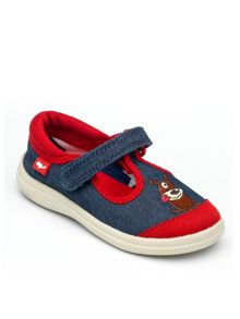 Boys Woof Denim Canvas Shoe.