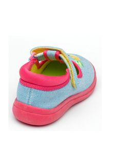 Girls Tutti Light Blue Canvas Shoe.