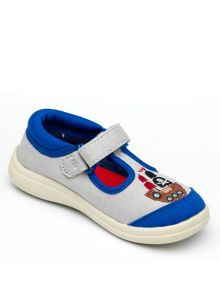 Boys Squawk Grey Canvas Shoe.