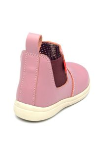 Girls Callie Pink Leather Ankle Boot.