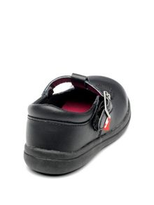Chipmunks Girls Esme Black Leather School Shoe.