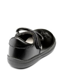 Chipmunks Girls Paige Black Leather School Shoe