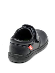 Boys Dixon Black Leather School Shoe.