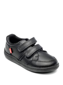 Boys Cameron Black Leather School Shoe.