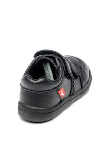 Chipmunks Boys Cameron Black Leather School Shoe.