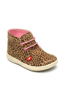 Chipmunks Girls Leopard Suede Ankle Boot.
