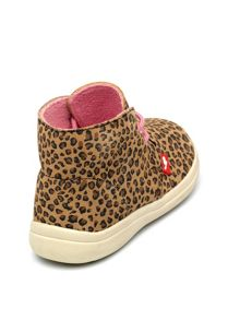 Girls Leopard Suede Ankle Boot.