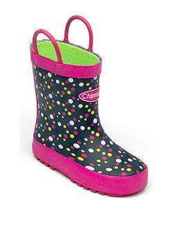 Girls Millie spotted rain boot