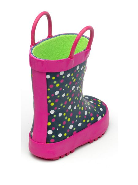 Chipmunks Girls Millie spotted rain boot