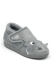 Boys Ralph the Rhinoceros slipper.