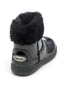 Chipmunks Girls Juno black patent leather boot