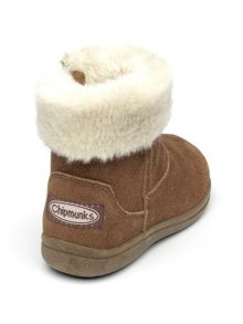 Chipmunks Girls Alaska tan suede boot